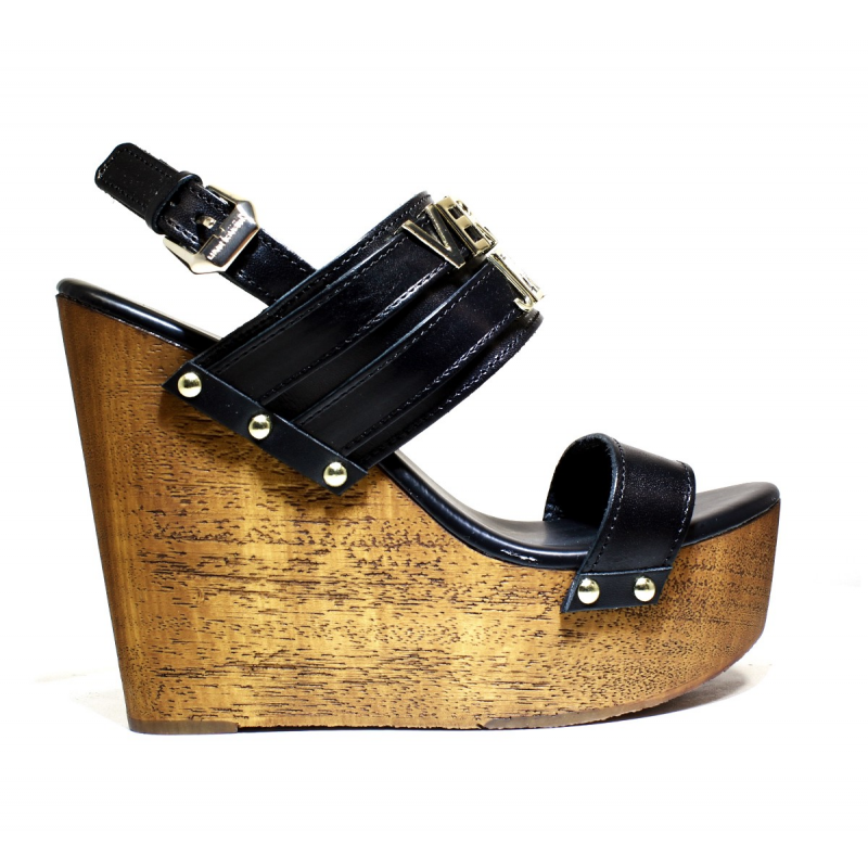 66f938fa253 Versace Jeans Woman With Sandal Wedge High Art. E0VNBS34 75550 003 White.  Loading zoom
