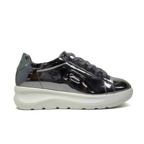 Fornarina wedged silver sneaker venere-silver mirrored article PIFVH9509WMA9000