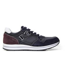 NERO GIARDINI P704912U 200 sneakers man suede-colored blue and red