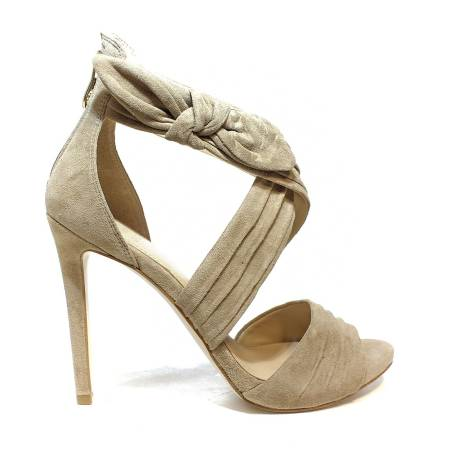 Guess suede sandal with high heels sand color article FLAZL2 SUE03 SAND