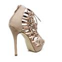 Ikaros sandal ankle boot with high heels natural color article B 2711 NUDE