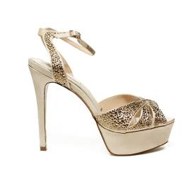 Ikaros sandal jewel with high heels gold color article B 2714 ORO
