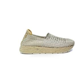 Woz loafer in fabric with wedge platinum color article UP312 PLATINUM