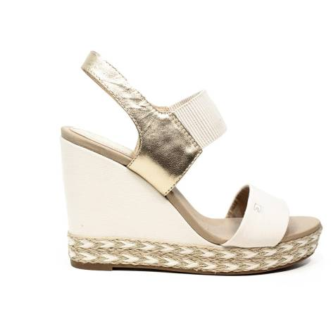 6961fb52f Tommy Hilfiger Sandal with high wedge gold article FW0FW00734 901