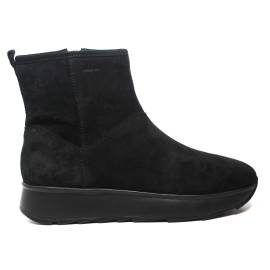 Geox ankle boot with medium wedge color black article d745tc 00022 c9999