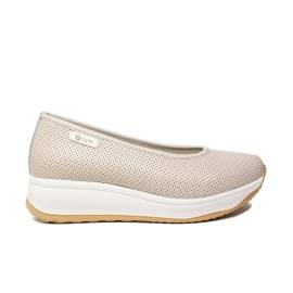 Agile by Rucoline ballerina woman leather with wedge of ivory color ARTICLE 136 TO CHARO FOR Ivory