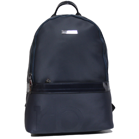 Roccobarocco ROBS2WM02 Carlo Blu man's backpack in synthetic fabric