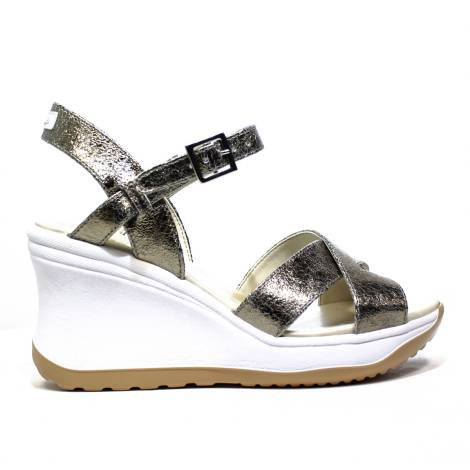 Agile by Rucoline Sandal with Strap High Media with Internal Hing Vesuvio Art. 1871 82644 1871 A Bronze