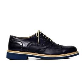 EXTON MAN LACES-UP SHOES 9192 DELAVE' Blue