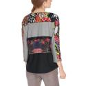Desigual sweater woman 67T24K2 2043 girona multicolored floral print and wide neck opening