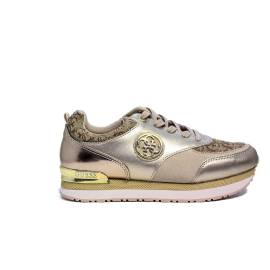 Guess sneakers color beige with logo article FLRIM1 FAL12 BEIBR