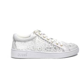 Guess sneakers in lace for woman white color FLGN1 LAC12 WHITE