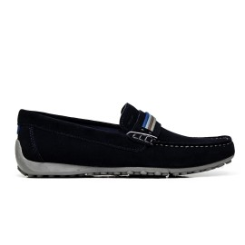 GEOX loafers man U7207F 00022 C4002 color navy suede