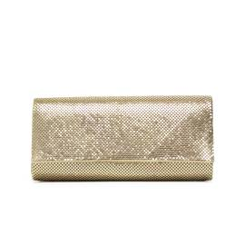 Lancetti 5247 gold clutch bag woman with rhinestones