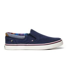 Wrangler WM171011 16 slip on man navy color with multicolored lining