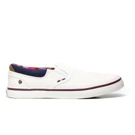 Wrangler WM171011 51 slip on man in white with multicolored lining