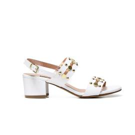 Albano 1357 sandal elegant white woman, with gold studs