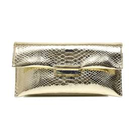Albano 709 COBRA women clutch bag gold / platinum with flaky texture