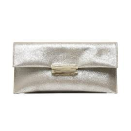 Albano 709 LUX woman clutch bag with beige laminated effect