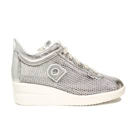Agile by Rucoline sneaker with wedge silver color article 0226-82983 226 A NETLAM