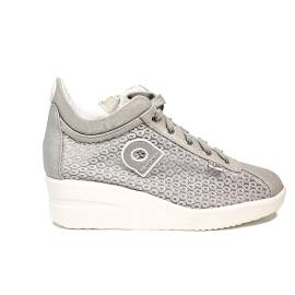 Agile by Rucoline sneaker with wedge silver color article 0226-82984 A DALIDA 1215