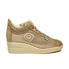 Agile by Rucoline sneaker with wedge gold color article 0226-82984 A DALIDA 1215