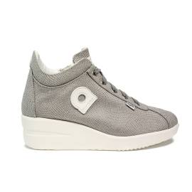 Agile by Rucoline sneaker with wedge gray color article 0226-83013 226 A VORTICE