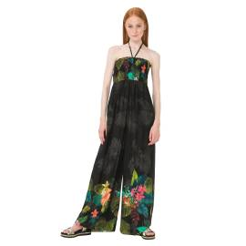 Desigual 74M2WC3 2000 suit overalls woman with floral print black