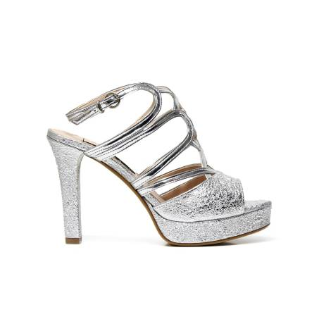 SILVANA 708 SILVER decoltè woman with high heel, silver color