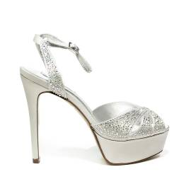 Ikaros sandal jewel with high heels silver color article B 2714 ARGENTO