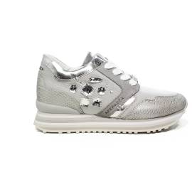 Apepazza sneaker with stones on the side ice color article RDS03