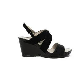 Geox sandal for women made in leather with black color bands article D72P3A 021SK C9999