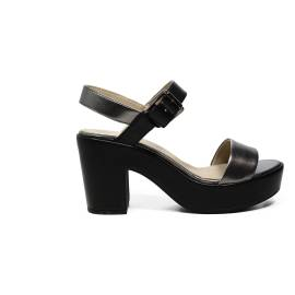 Geox sandal for women with high heels made in leather with black color bands article D724SA 0AJ54 C1223