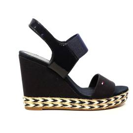 Tommy Hilfiger Sandal with high wedge blu night article FW0FW00733/403