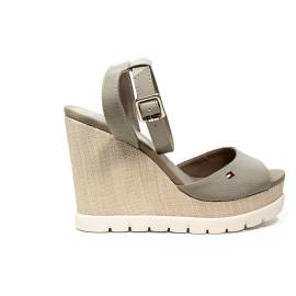 Tommy Hilfiger Sandal with high wedge Grey article FW0FW00695/068