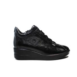 Agile by Rucoline Sneaker medium wedge black color article 226 a luxor