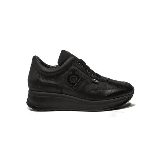 Agile by Rucoline Sneaker medium wedge black color article 1304 a alvin