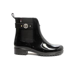 Tommy Hilfiger ankle boot with low heel black color article FW0FW01294/990