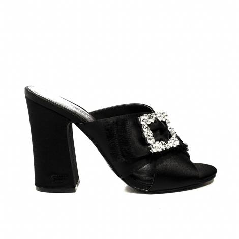 Fornarina sandal DONNA COLOR BLACK style sabot with decoration in stones model guild 2 Article PE182904GI OR000