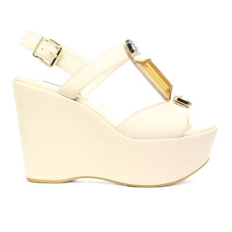Luciano Barachini Woman Wedge Sandal Ecoleather 6321 G Butter